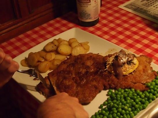The biggest schnitzel...