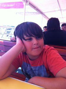 Lucas patiently waiting to arrive in Bar, Montenegro