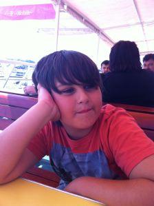 Lucas patiently waiting to arrive in Bar, Montenegro