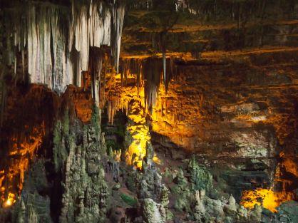 Stalactites & Stalagmites in the Grotte di Castellana
