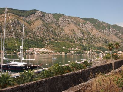 A glimpse of the Bay of Kotor