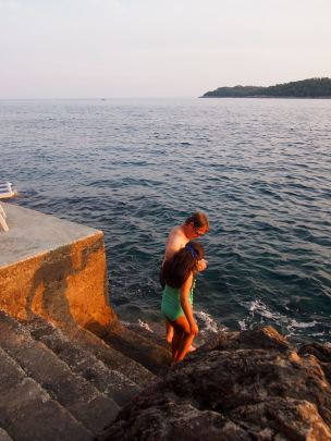 Heading for a sunset swim- Villa Dubrovnik