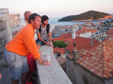 Taking in the view from the Dubrovnik walls