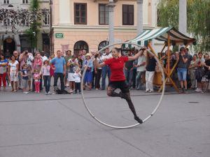 Street performers in Ljubljana - Slovenia