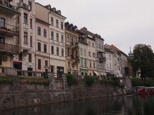 The river promenade - Ljubljana