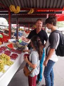 Selecting berries at the market - Ljubljana