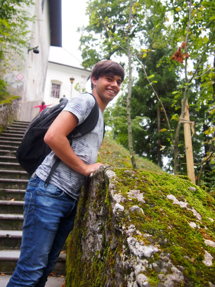 The 98 Steps leading to the church - Bled