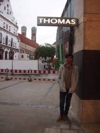 Thomas finds his namesake store in the square