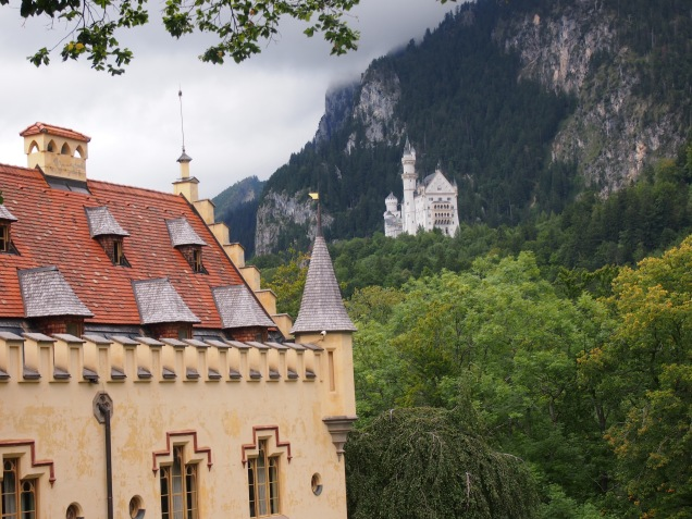 View of Neuschwanstein from Hohenschwangau Castle